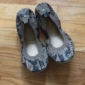Yosi Samra Shoes - Yosi Samra beige serpent foldable flats